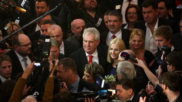 Milo� Zeman prezidentem - okam�iky radosti