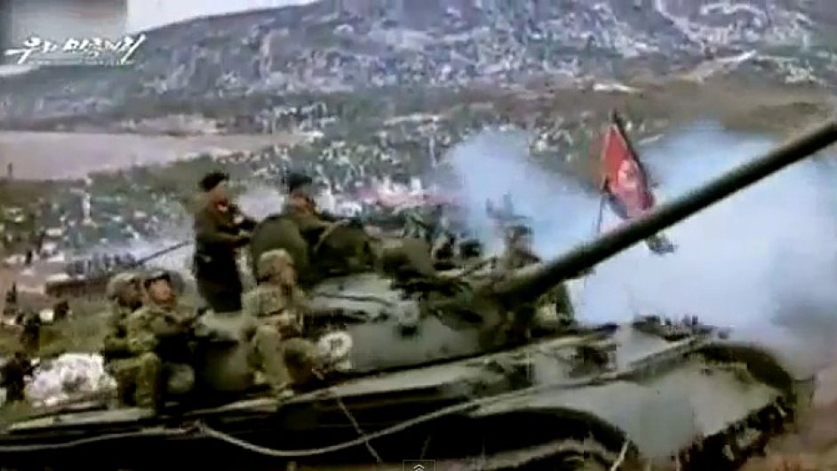 Záběry z fiktivní války KLDR s Jižní Koreou