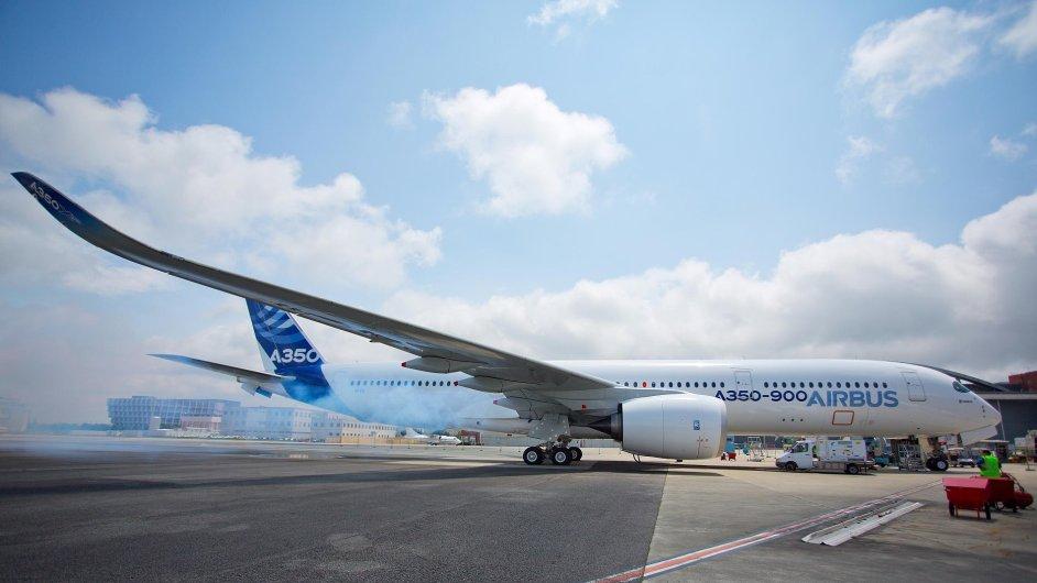 Nové letadlo airbus A350