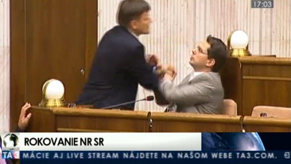 Bitka ve slovenském parlamentu