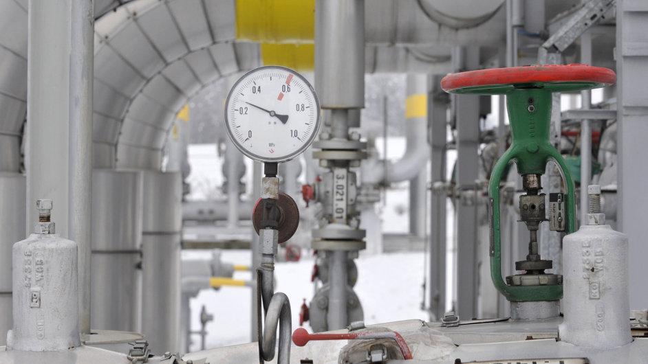 Zásobník plynu v Hájích na Příbramsku,ilustrační foto