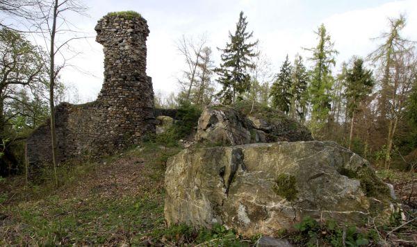 Zřícenina hradu Rabštejn na Chrudimsku
