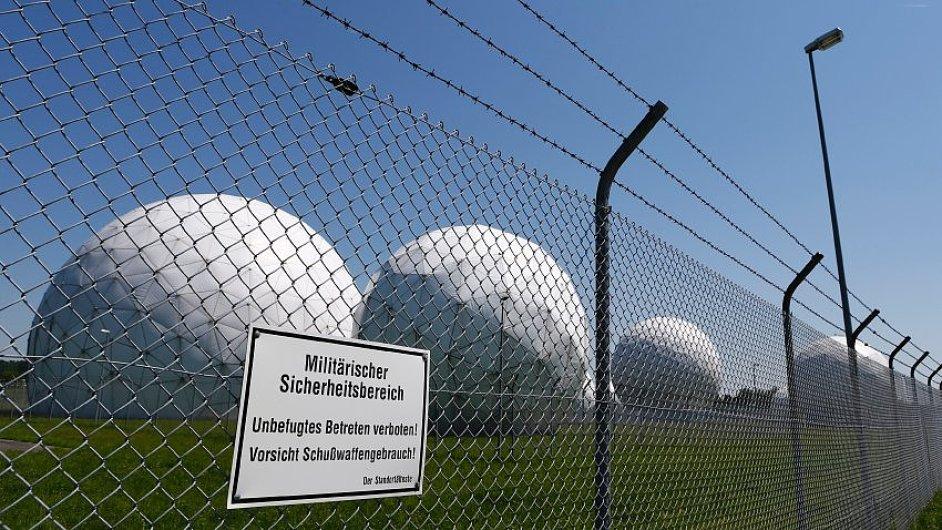 Dřívější monitorovací základna NSA v německém Bad Aiblingu