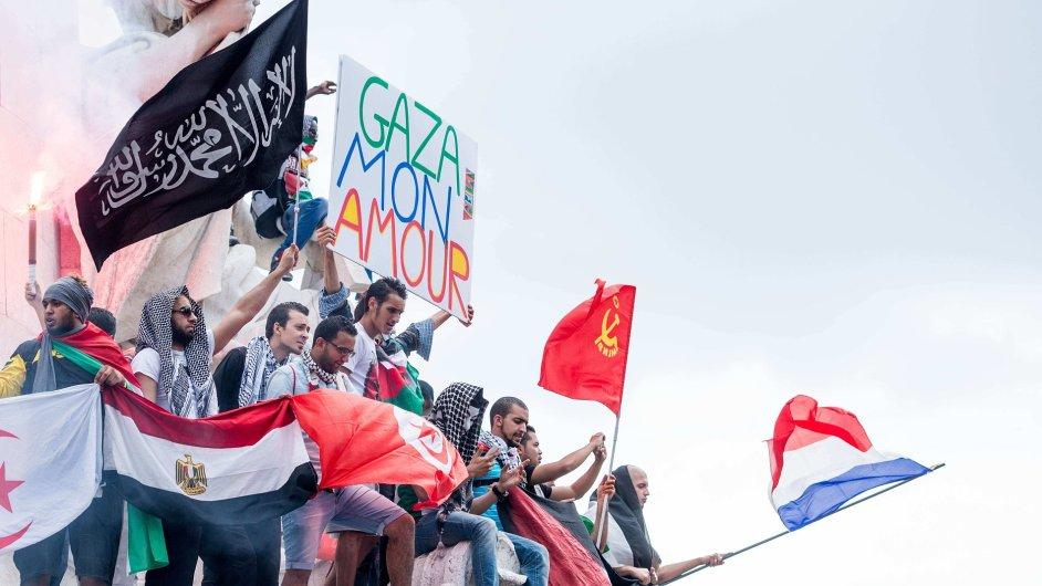 Pařížská protiizraelská demonstrace