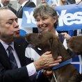 Skotsk� ministr Alex Salmond se zast�nci samostatnosti zem�.