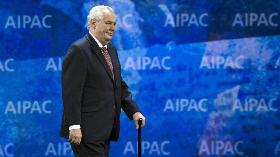 Miloš Zeman na konferenci v USA.