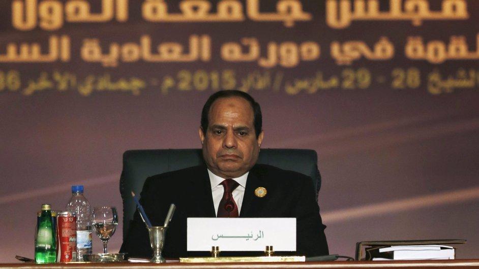 Egyptský prezident Abdal Fattáh Sísí na víkendovém summitu