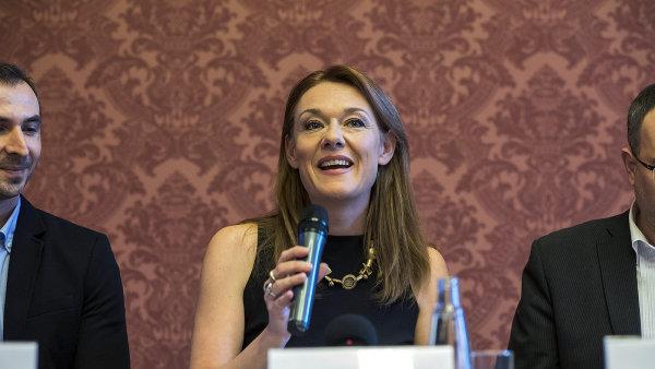Magdalena Kožená na snímku z úterní tiskové konference, kde oznámila založení fondu.