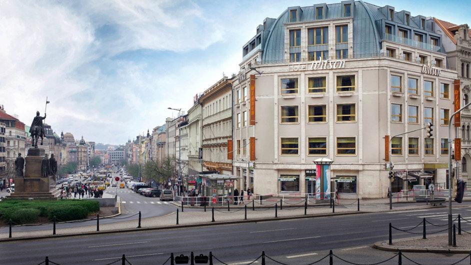 Budova luxusního hotelu Wilson na Václavském náměstí.