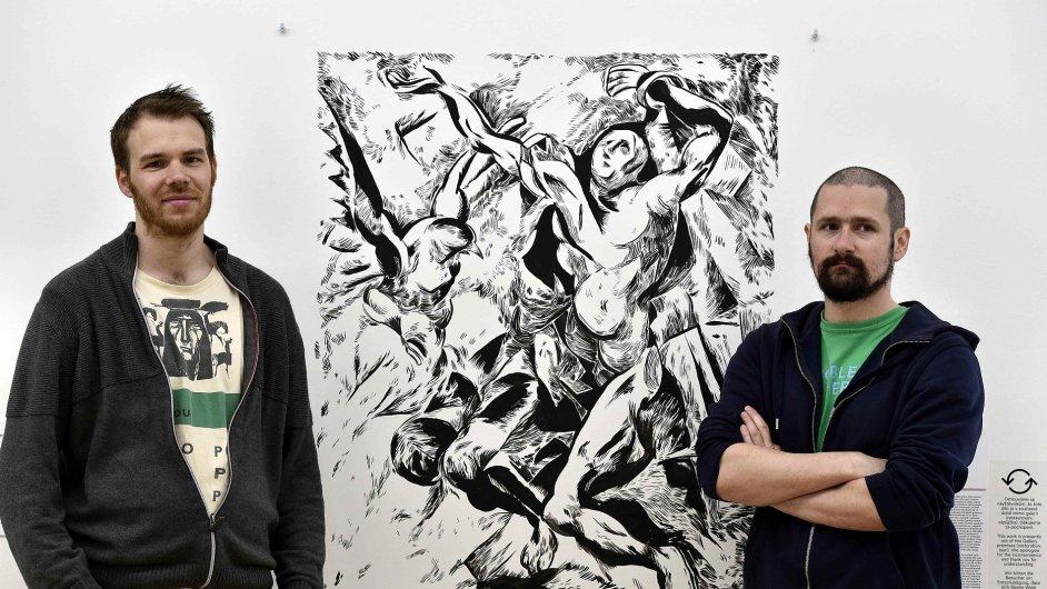 Snímky překreslených obrazů v Moravské galerii