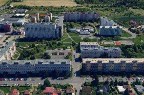 Pohled na současné sídliště v Písnici.
