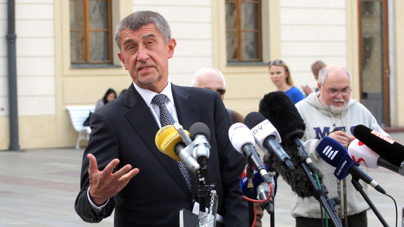 Andrej Babiš na Pražském Hradě