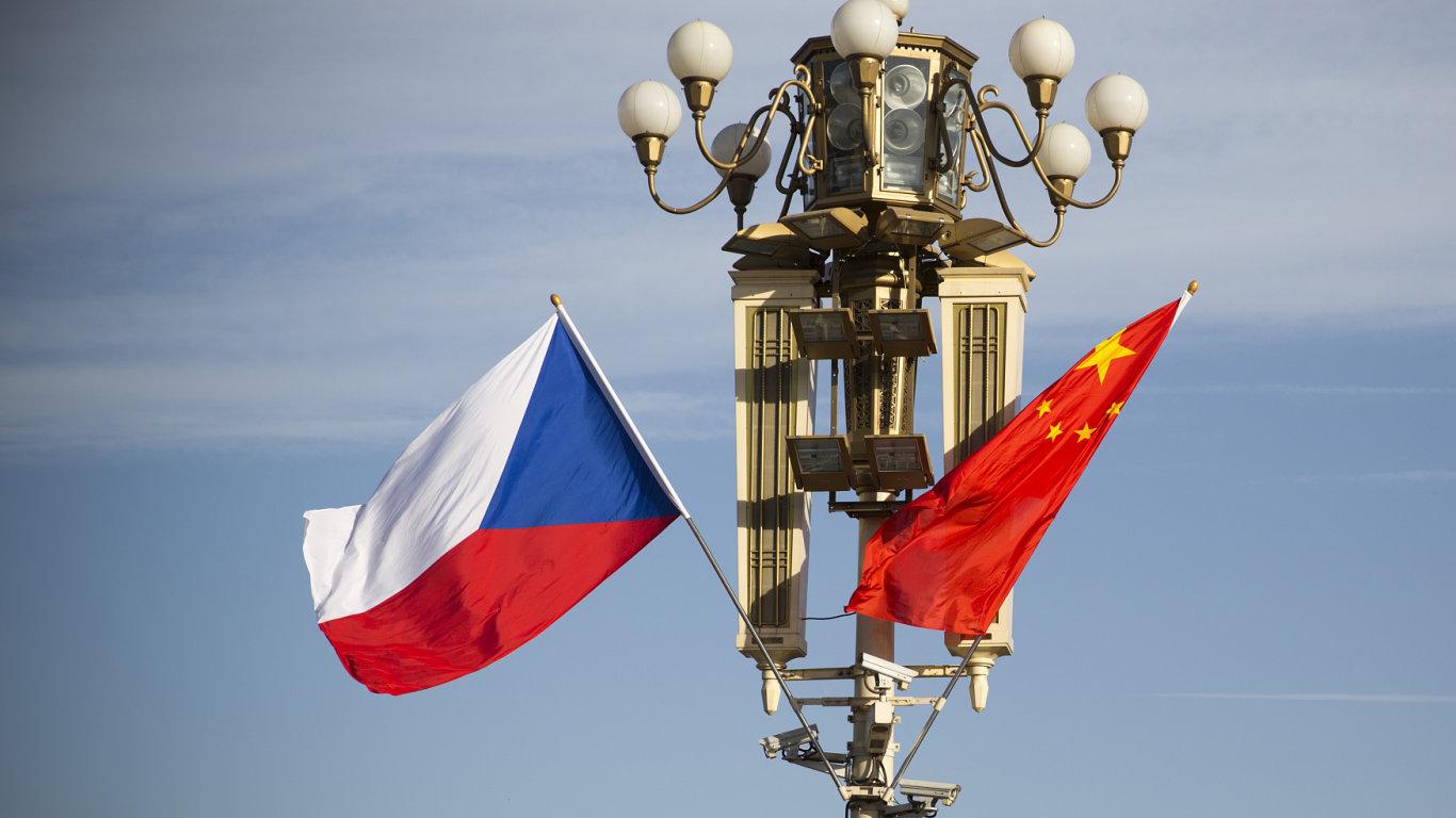 Čína, čínská, vlajka, česká, Sobotka
