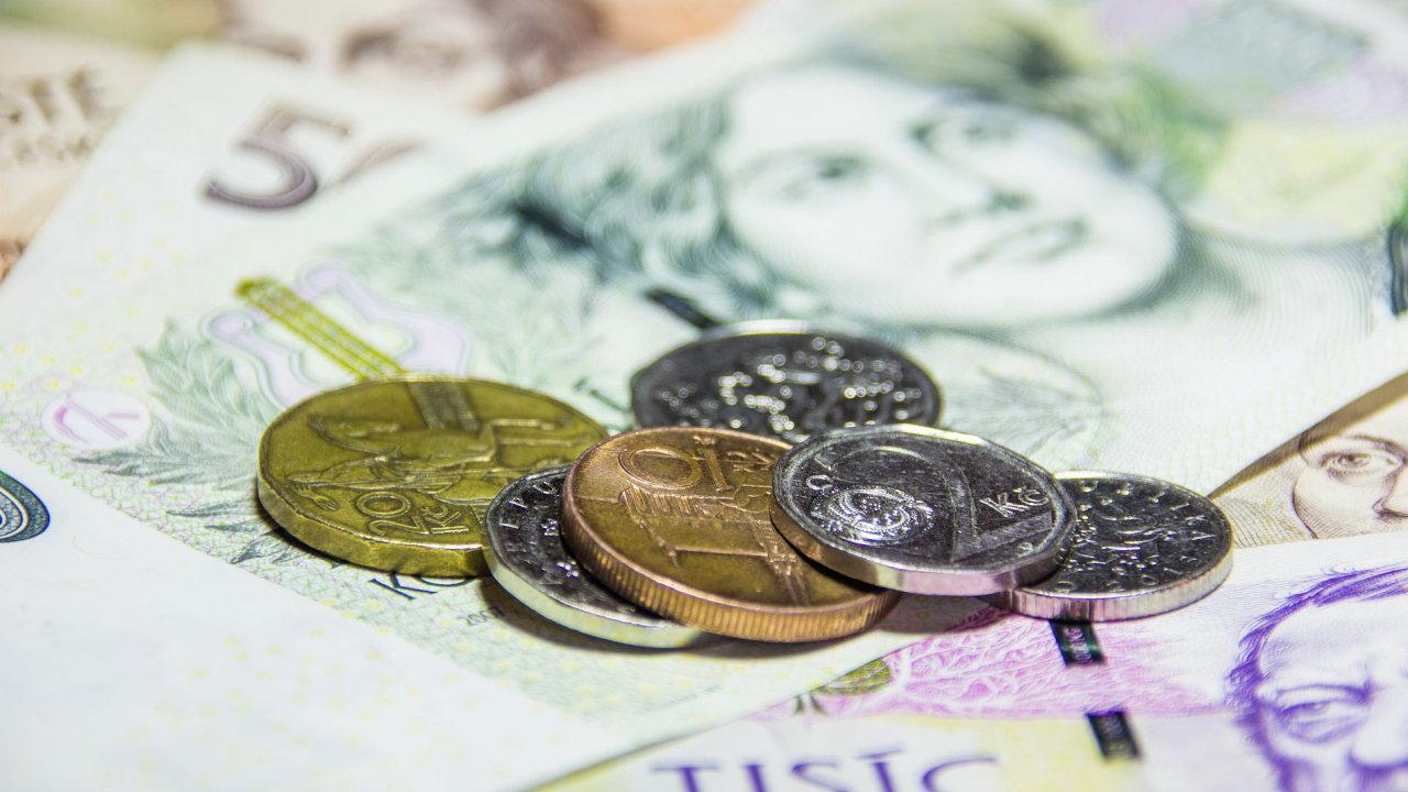 Peníze, koruna, bankovky, kč, česká, euro