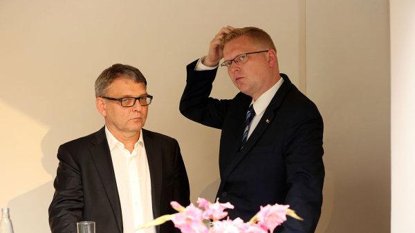Lubomír Zaorálek a Pavel Bělobrádek.
