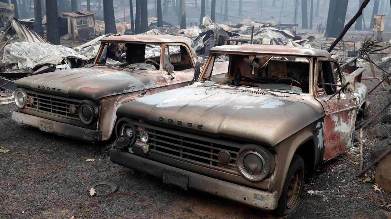 Kalifornie požáry 2018