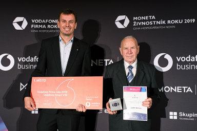 Vlevo Jan Schindler z rodinné firmy Schindler, vpravo živnostník Arnošt Obrusník.