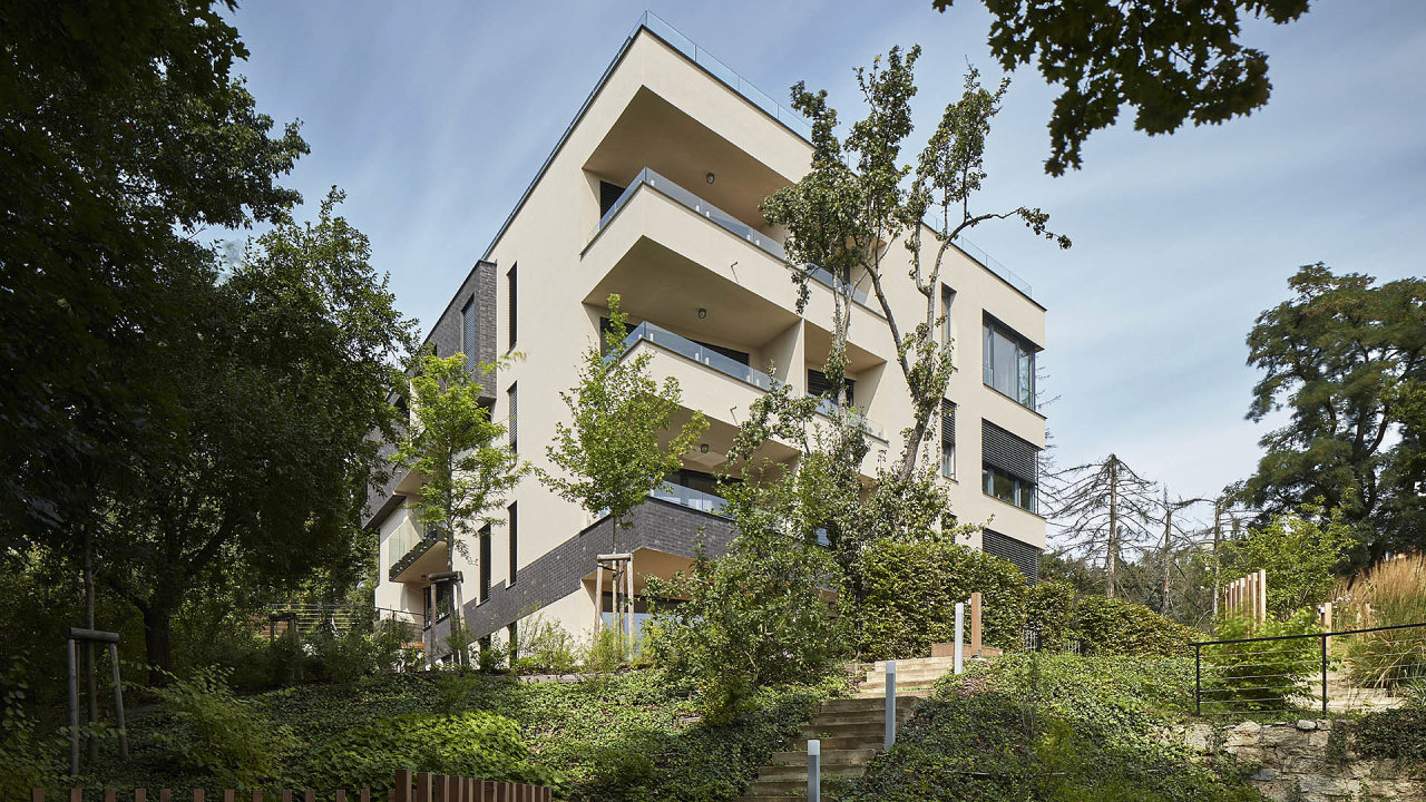 Barrandovská zahrada společnosti T.E development získala prvenství vkategorii Menší rezidenční projekty.
