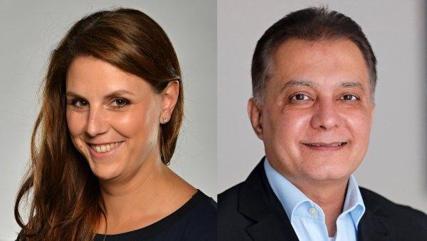 Eva Kučmášová a Amjad Deen, management společnosti Canon v regionu EMEA