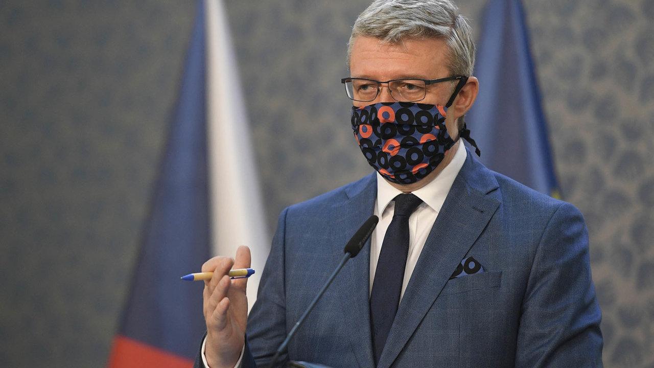 Garant kovidových programů. Ministr průmyslu a obchodu Karel Havlíček vede úřad, který spravuje agendu vládních programů na pomoc firmám postiženým karanténními opatřeními.