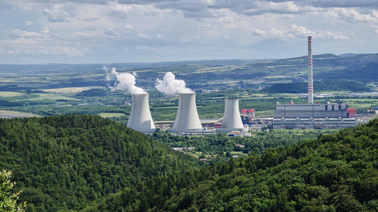 Elektrárna Prunéřov v severních Čechách. Právě zde by mohla vzniknout první gigafactory v Česku.
