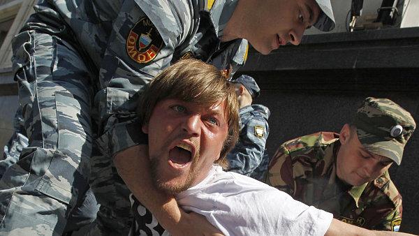 Protivládní demonstrace v centru Moskvy