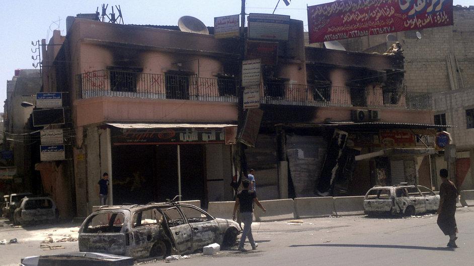 Boje s armádou se přesunuly na předměstí Damašku
