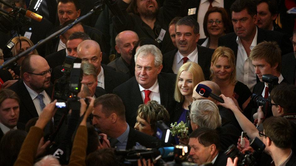 Miloš Zeman prezidentem - okamžiky radosti