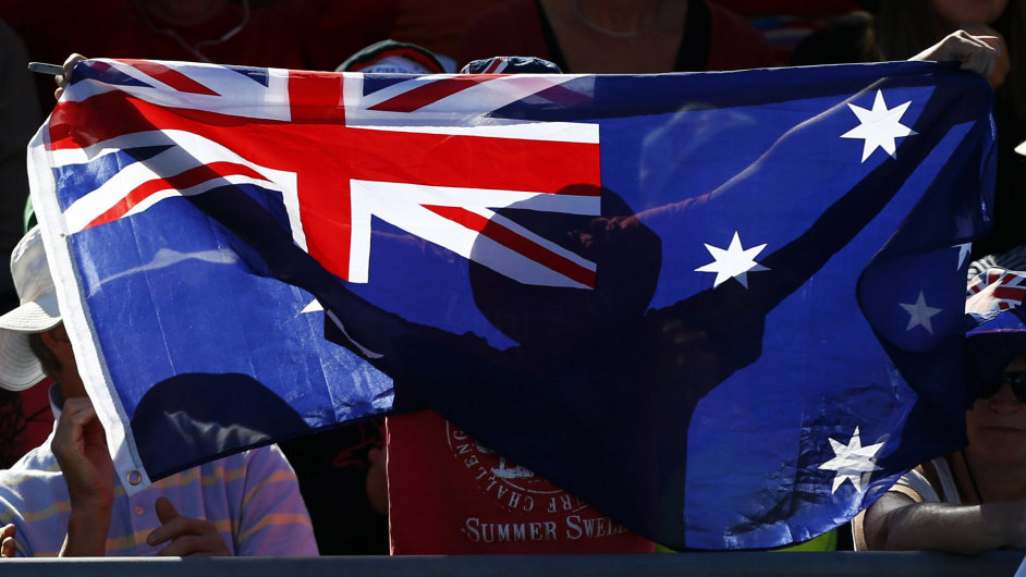 Australská vlajka - ilustrační foto