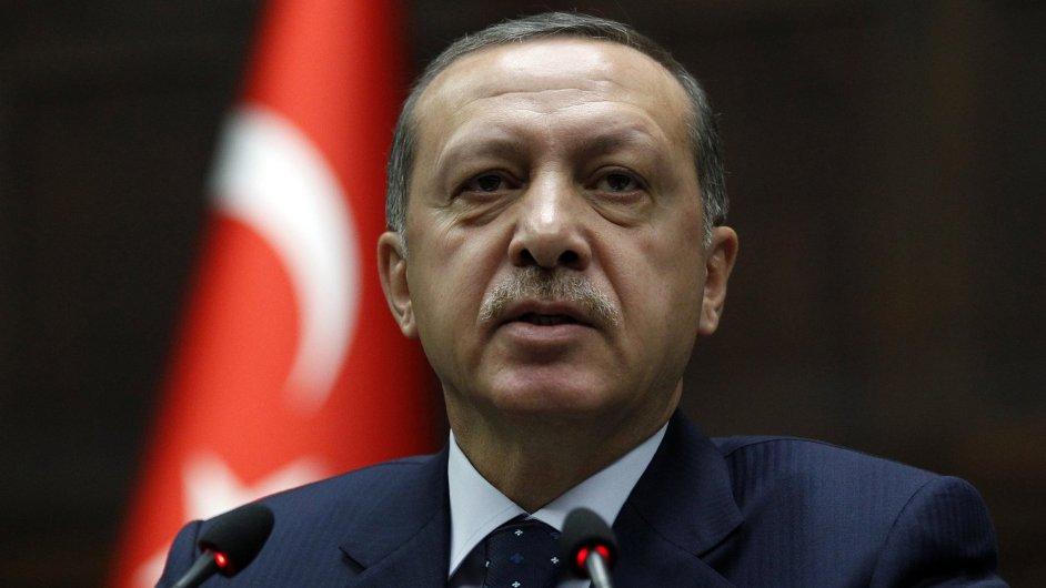 Turecký premiér Recep Tayyip Erdogan