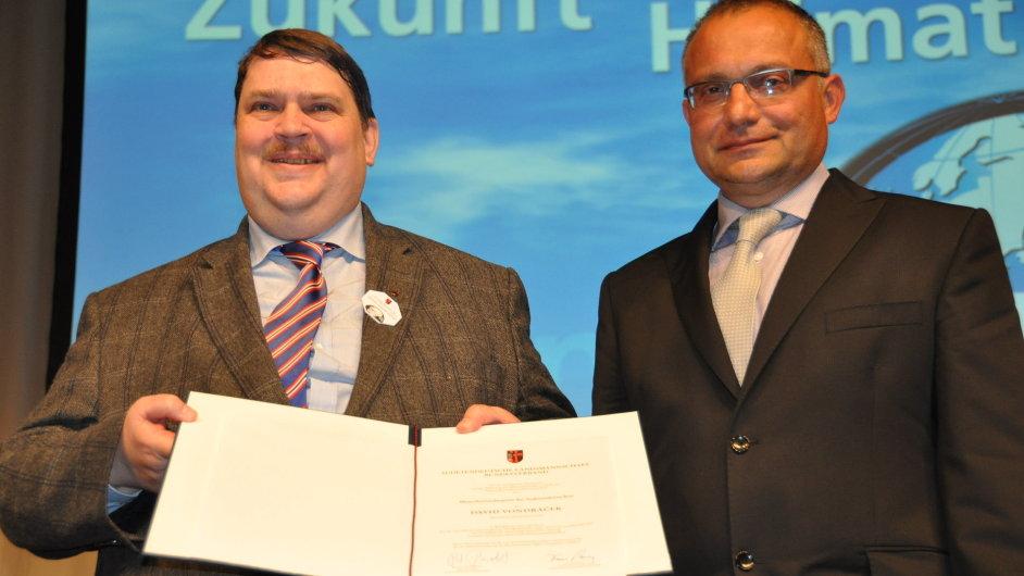 Mluvčí sudetoněmecké národnostní skupiny Bernd Posselt