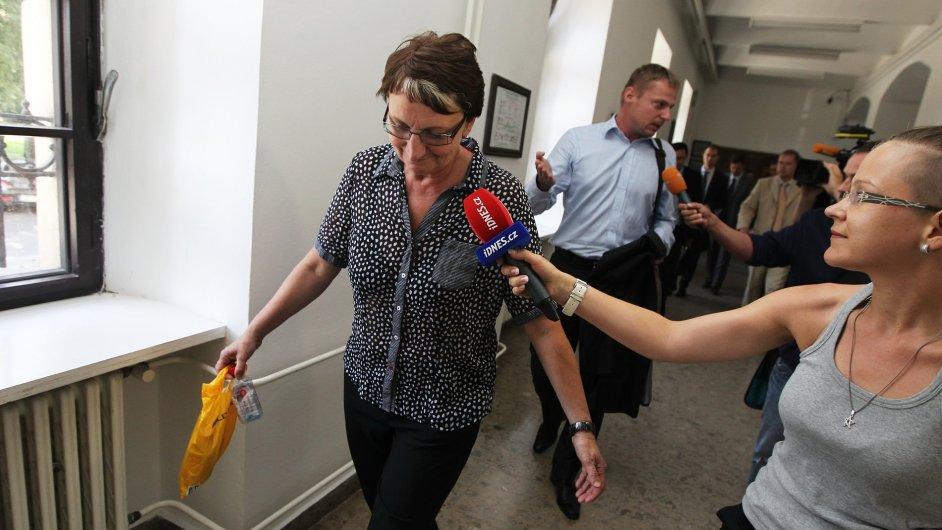 Ivana Salačová před soudem