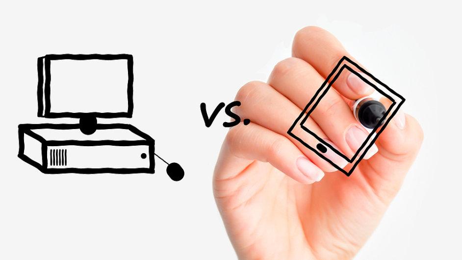 Klasické počítače z trhu čím dál víc vytlačují tablety. (Ilustrační foto)