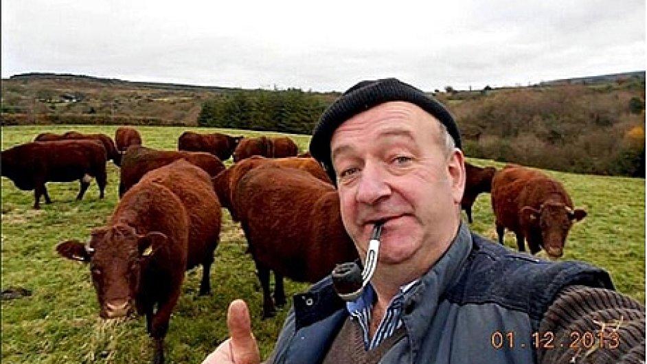 """P.J.Ryan, vítěz soutěže o irskou farmářskou """"felfie"""""""