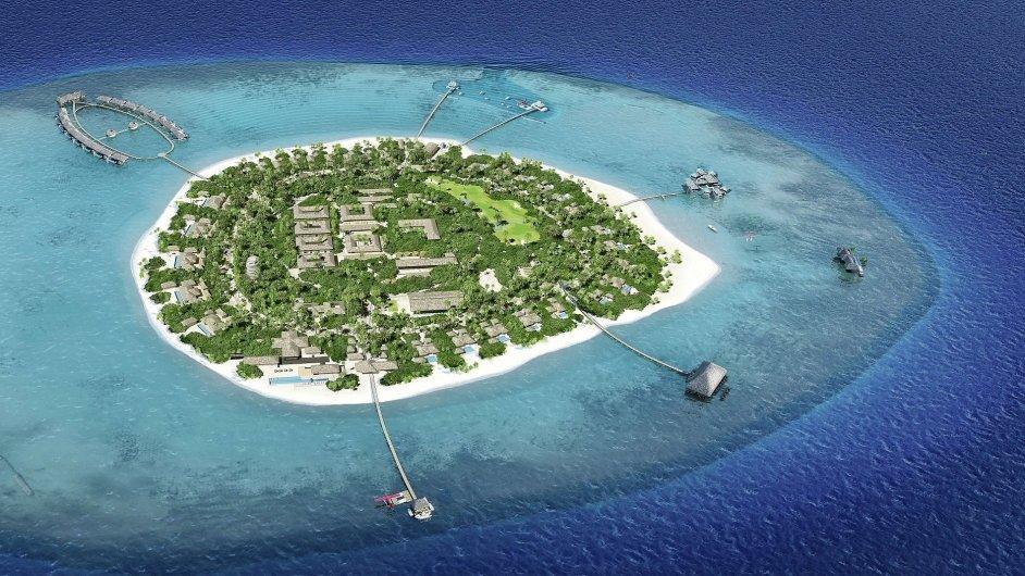Původně téměř opuštěný ostrov na Maledivách
