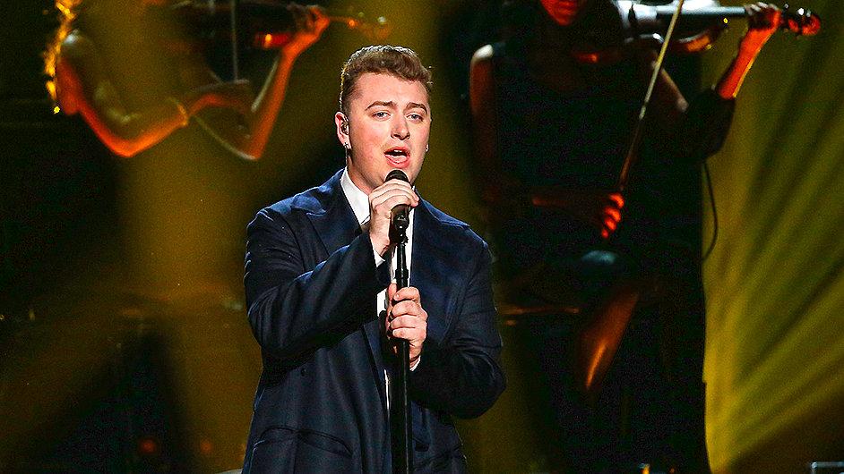 Britský zpěvák Sam Smith na listopadovém udílení American Music Awards.
