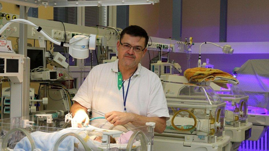 Primář novorozeneckého oddělení FN Olomouc Lumír Kantor