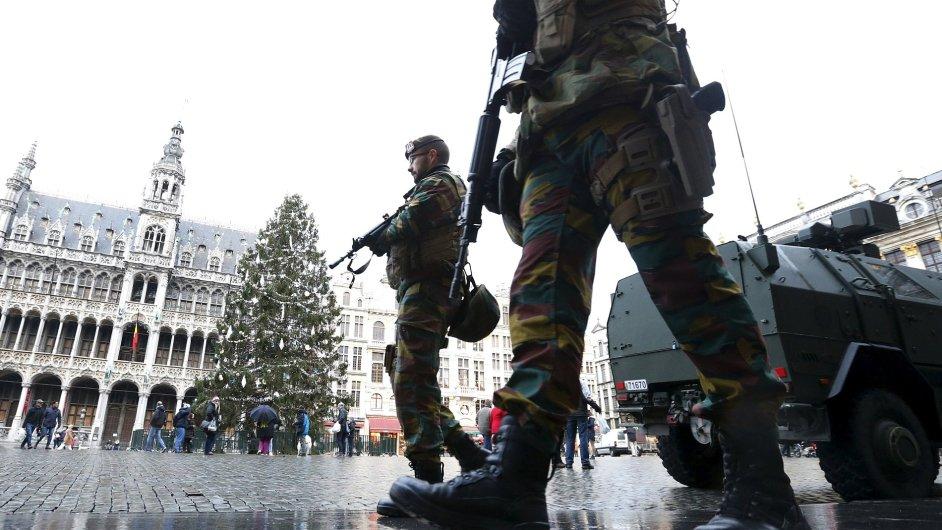 Belgie, Brusel, terorismus, zásah