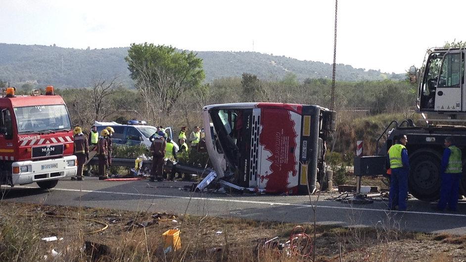Nehoda autobusu ve Španělsku