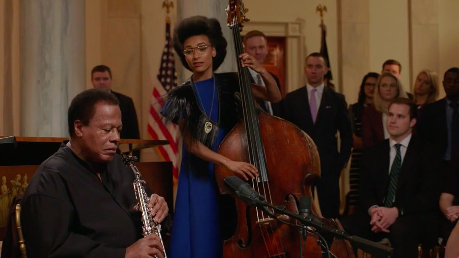 Wayne Shorter během vystoupení v Bílém domě.