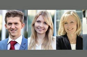 Adam Foks, Julie Svarovská, Kordula Kiefer-Kempf a Hynek Bartík, marketingový tým společnosti P3