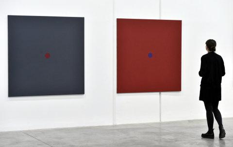 Snímek z výstavy Milana Grygara ve Fait Gallery.