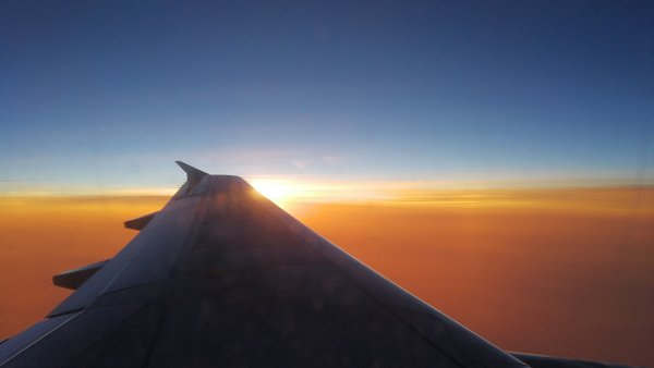 Pohled z letadla - ilustrační foto