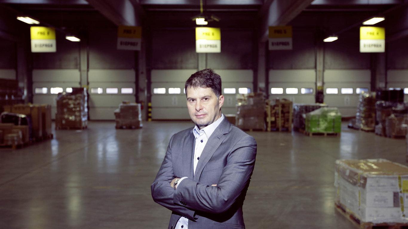 Ředitel společnosti DB Schenker Tomáš Holomoucký.