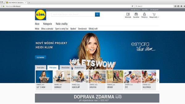 Na e-shopu Lidl může nyní nakupovat i veřejnost. K produktům se lidé dostanou dříve než v obchodech.