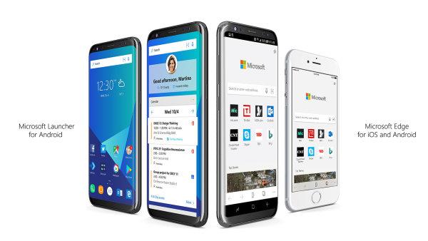 Microsoft Launcher a prohlížeč Edge pro iOS a Android