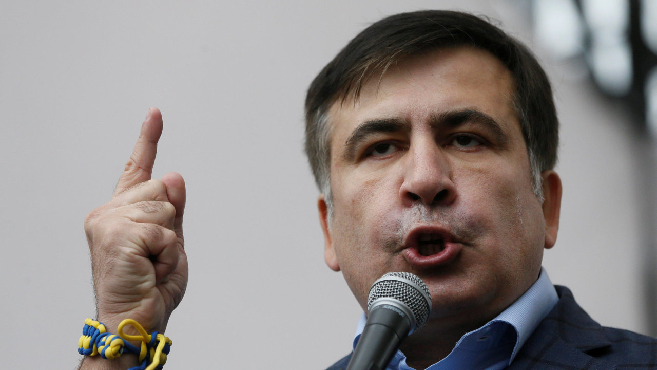 Bývalý gruzínský prezident Michail Saakašvili je hlasitým kritikem ukrajinského prezidenta Porošenka.