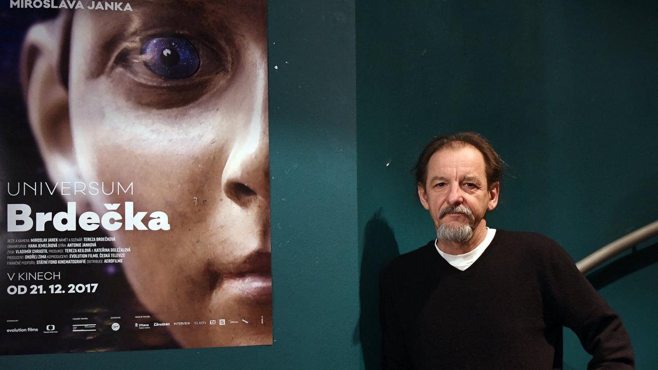 Režisér Miroslav Janek (na snímku) se střihačkou Toničkou Jankovou strávil pět měsíců ve střižně, aby odkryl bohatý vnitřní život Jiřího Brdečky.