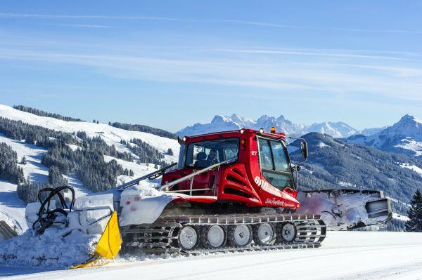 Úpravu sjezdovek ve středisku Wilder Kaiser – Brixental zajišťuje 65 sněžných rolb.