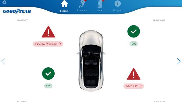 Goodyear představil pneumatiky, které posílají data o svém stavu do aplikace.